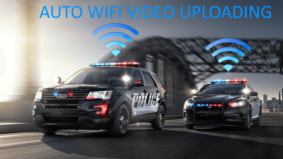police in-car camera system wireless video uploading